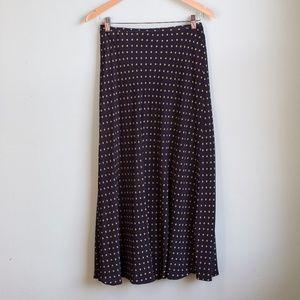 Vintage Polka Dot Pencil Skirt
